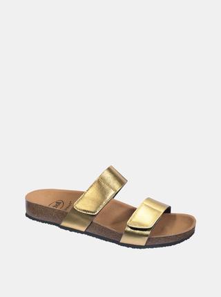 Dámské pantofle ve zlaté barvě Scholl Greeny