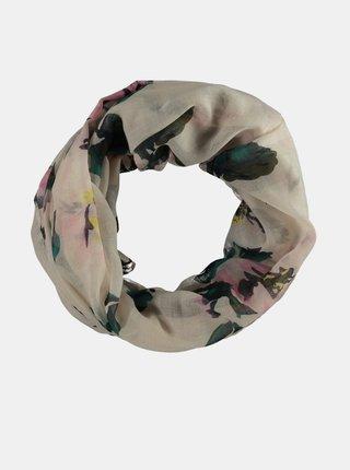 Krémový dámský vzorovaný šátek Haily´s Rosy