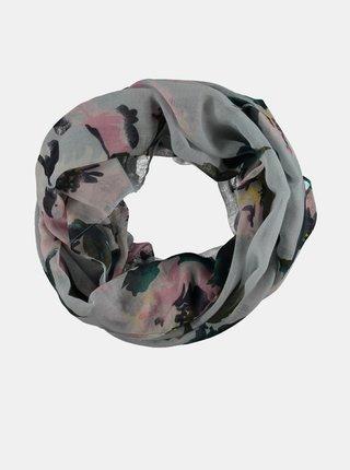 Světle modrý dámský vzorovaný šátek Haily´s Rosy