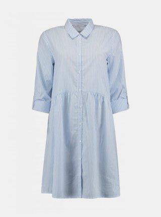 Světle modré košilové pruhované šaty Haily´s Lykka