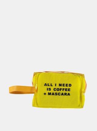 Žlutá kosmetická taštička Haily´s Coffee and Mascara
