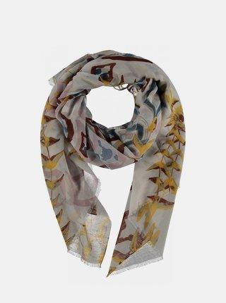 Béžový dámský vzorovaný šátek Haily´s Candy