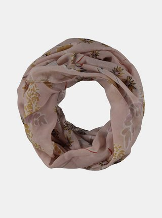 Starorůžový dámský vzorovaný šátek Haily´s Kethy