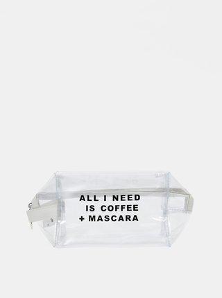 Transparentní kosmetická taštička Haily´s Coffee and Mascara