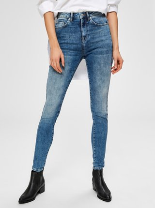 Modré skinny fit rifle Selected Femme