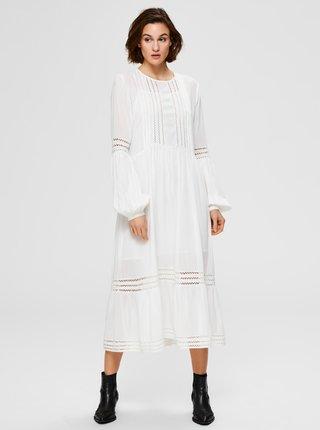 Biele midi šaty Selected Femme