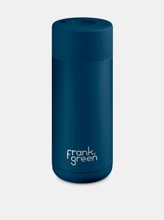 Tmavomodrý nerezový cestovný hrnček Frank Green Ceramic 475 ml