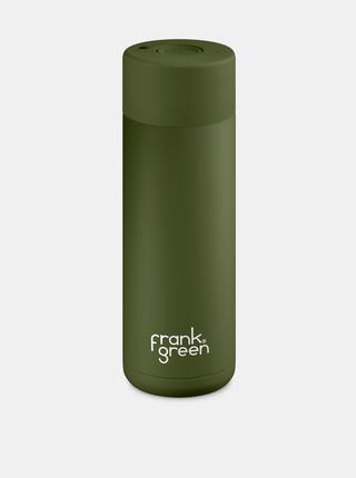 Khaki nerezová láhev Frank Green Ceramic 595 ml
