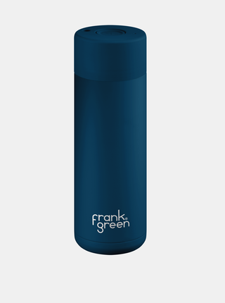 Tmavomodrá nerezová fľaša Frank Green Ceramic 595 ml