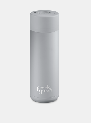 Šedá nerezová fľaša Frank Green Ceramic 595 ml
