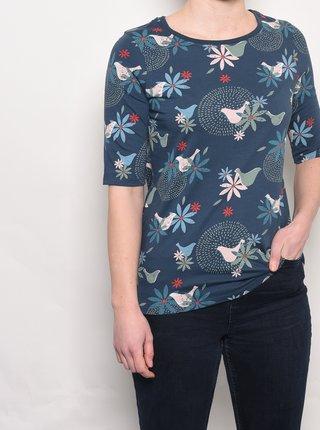 Modré kvetované tričko Brakeburn