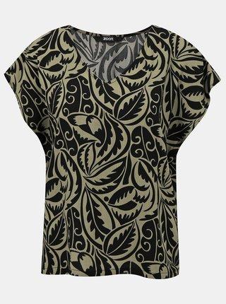 Černo-šedá vzorovaná halenka ZOOT Tatiana