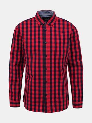 Červená pánska kockovaná košeľa ZOOT Aiden