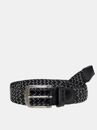 Černý pásek s koženými detaily ONLY & SONS Cas