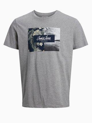 Šedé tričko Jack & Jones Tropic