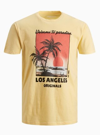 Žluté tričko Jack & Jones Kallo