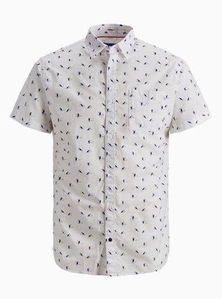 Bílá vzorovaná košile Jack & Jones Hex
