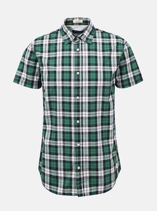 Zelená kockovaná košeľa Jack & Jones Chad