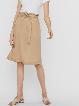 Béžová sukně VERO MODA Noa