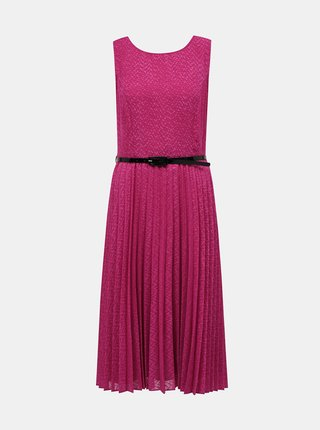 Ružové šaty s plisovanou sukňou Dorothy Perkins