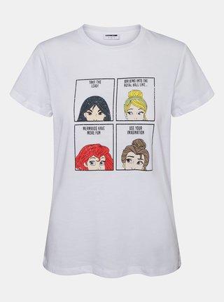 Biele tričko s potlačou Noisy May Princess