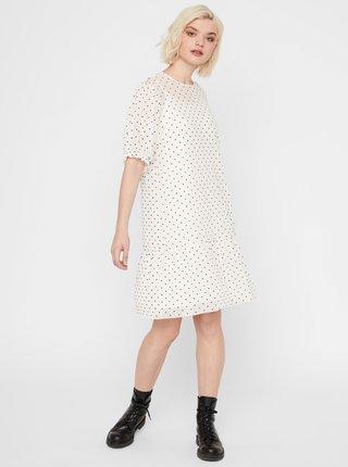 Biele bodkované šaty Noisy May June