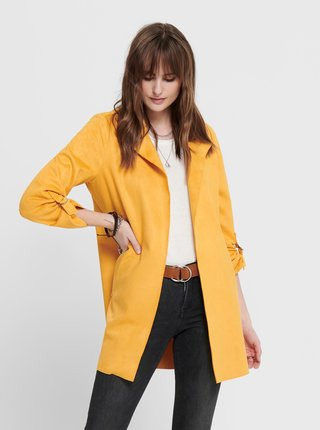 Žltý dámsky kabát ONLY Joline