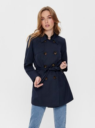 Tmavomodrý kabát ONLY Valerie