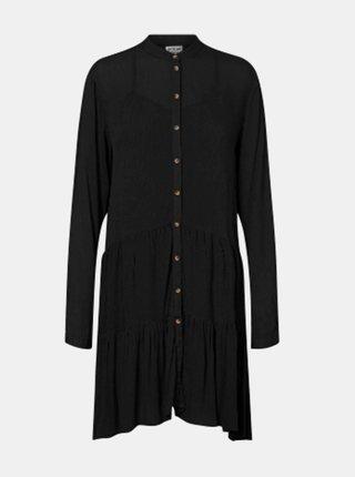 Čierne košeľové šaty Noisy May Fleur
