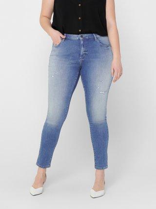 Modré skinny fit džíny ONLY CARMAKOMA Carma