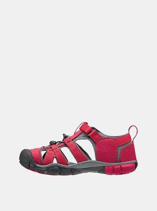 Červené dětské sandály Keen Seacamp II CNX K