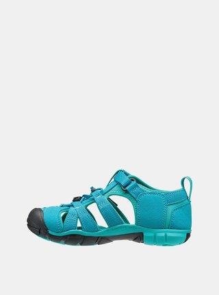 Tyrkysové dětské sandály Keen Seacamp II CNX Jr