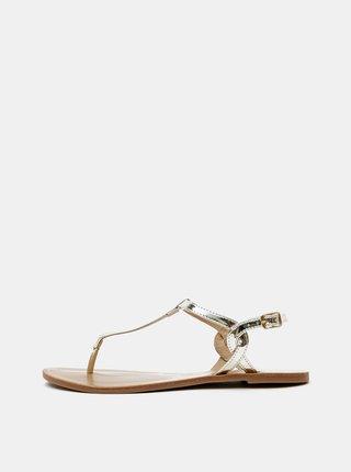 Sandále v zlatej farbe ONLY Margit