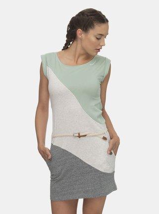 Šedo-krémové šaty Ragwear