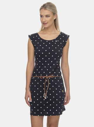 Tmavě modré puntíkované šaty Ragwear