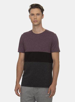 Fialovo-šedé pánské tričko Ragwear