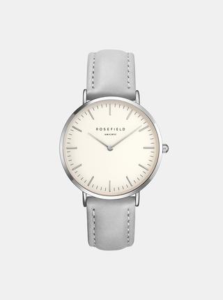 Dámské hodinky s šedým koženým páskem Rosefield