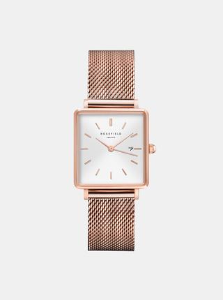 Dámske hodinky s nerezovým remienkom v ružovozlatej farbe Rosefield