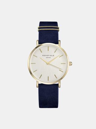 Dámske hodinky s modrým semišovým remienkom Rosefield