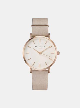 Dámské hodinky s růžovým semišovým páskem Rosefield