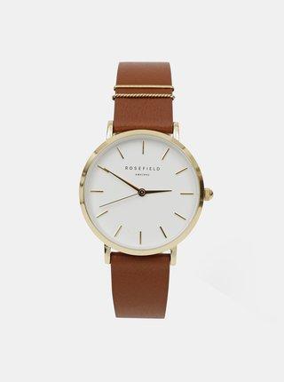 Dámské hodinky s hnědým koženým páskem Rosefield