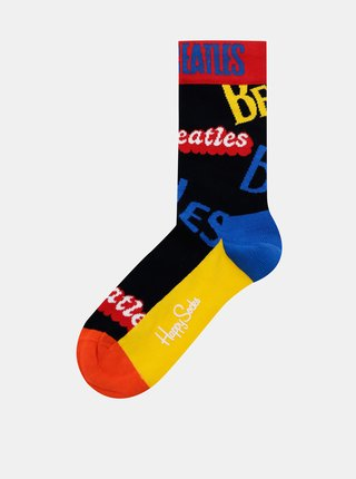 Žluto-černé ponožky Happy Socks Beatles In The Name Of Sock