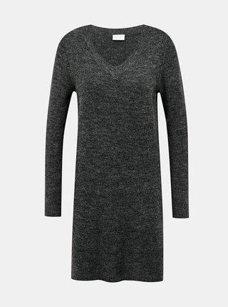 Šedé svetrové šaty s příměsí vlny z alpaky VILA