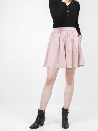 Růžová sukně v semišové úpravě VILA Choose