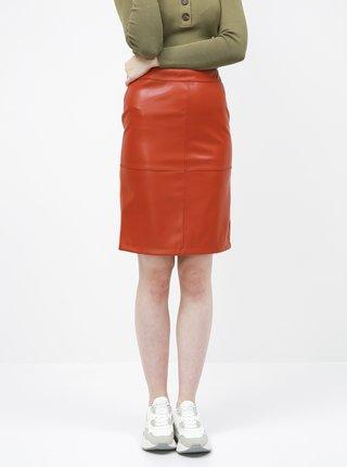 Červená koženková sukně VILA