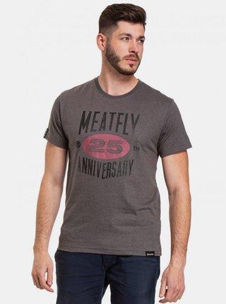 Tmavě šedé pánské tričko s potiskem Meatfly