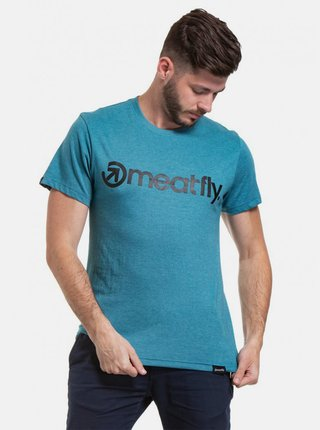 Modré pánské tričko s potiskem Meatfly Logo