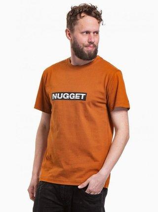 Hnědé pánské tričko NUGGET Cockpit