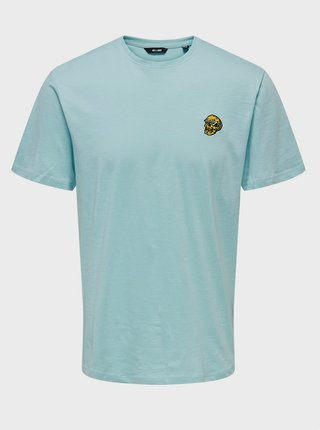 Světle modré tričko ONLY & SONS Imas