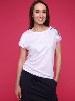 Bílé dámské tričko s potiskem LOAP Alexi